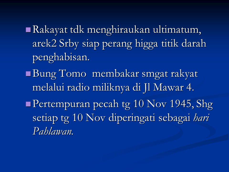 - Mayjen E.C.Mansergh, menulis surat kpd Gub. R.A.