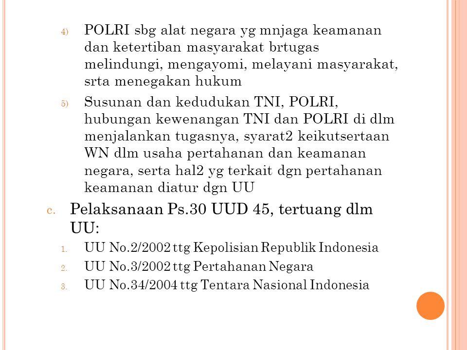 4) POLRI sbg alat negara yg mnjaga keamanan dan ketertiban masyarakat brtugas melindungi, mengayomi, melayani masyarakat, srta menegakan hukum 5) Susu