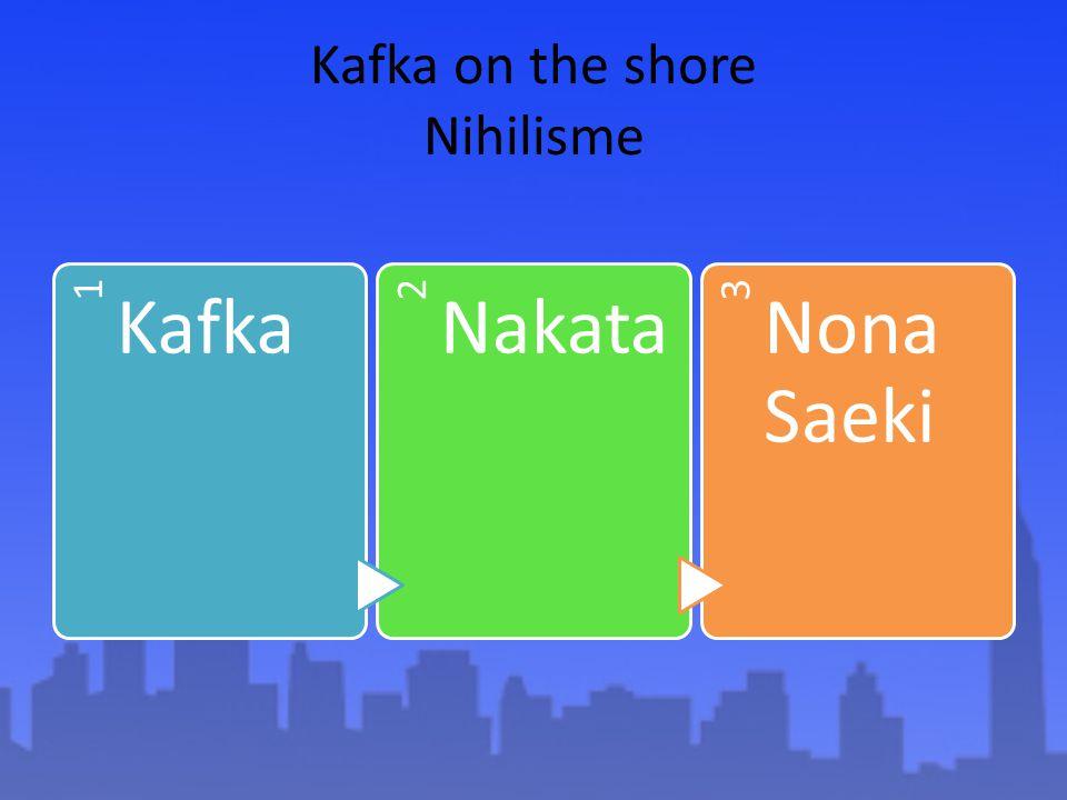 Kafka on the shore Nihilisme 1 Kafka 2 Nakata 3 Nona Saeki