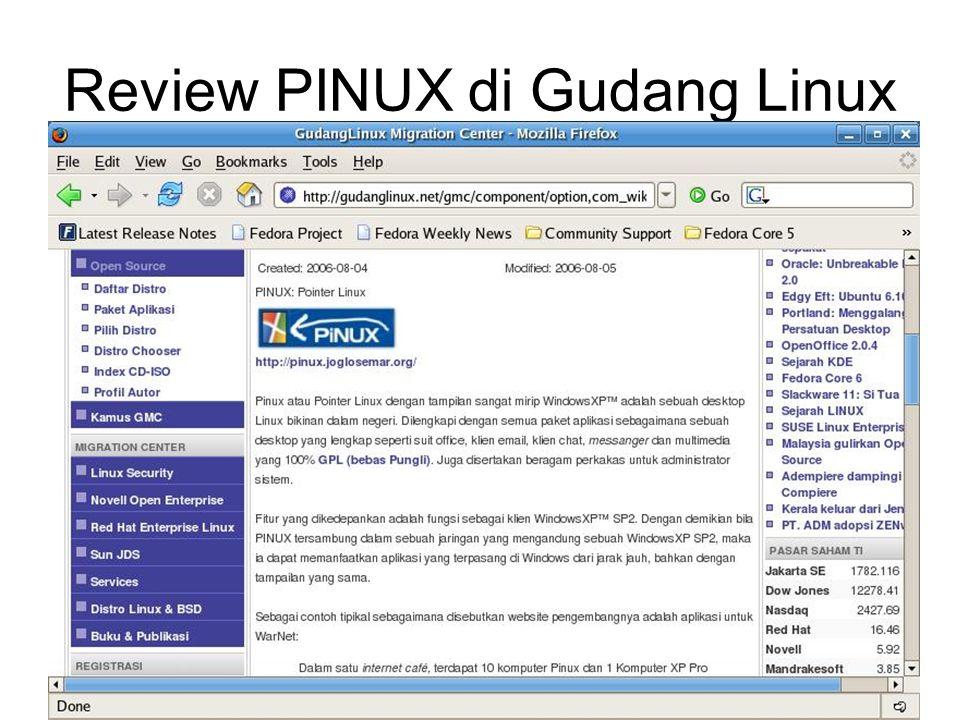 Review PINUX di Gudang Linux