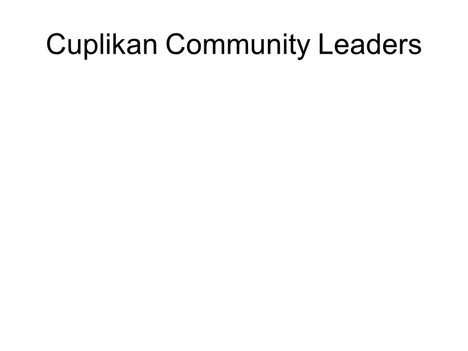 Cuplikan Community Leaders