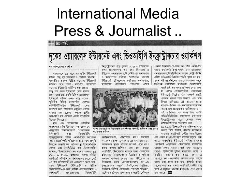 International Media Press & Journalist..