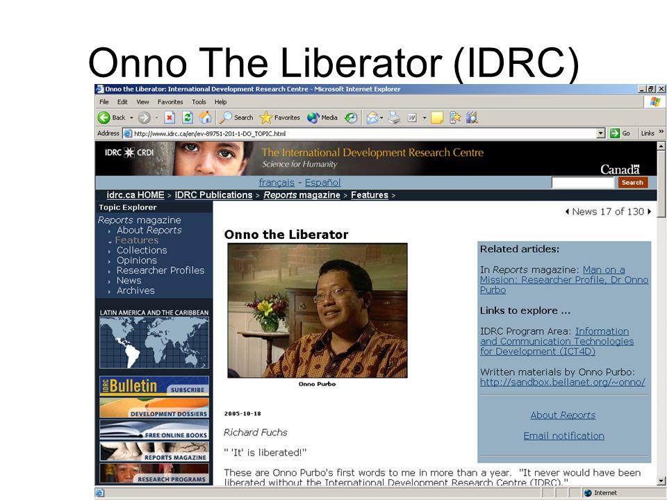 Onno The Liberator (IDRC)