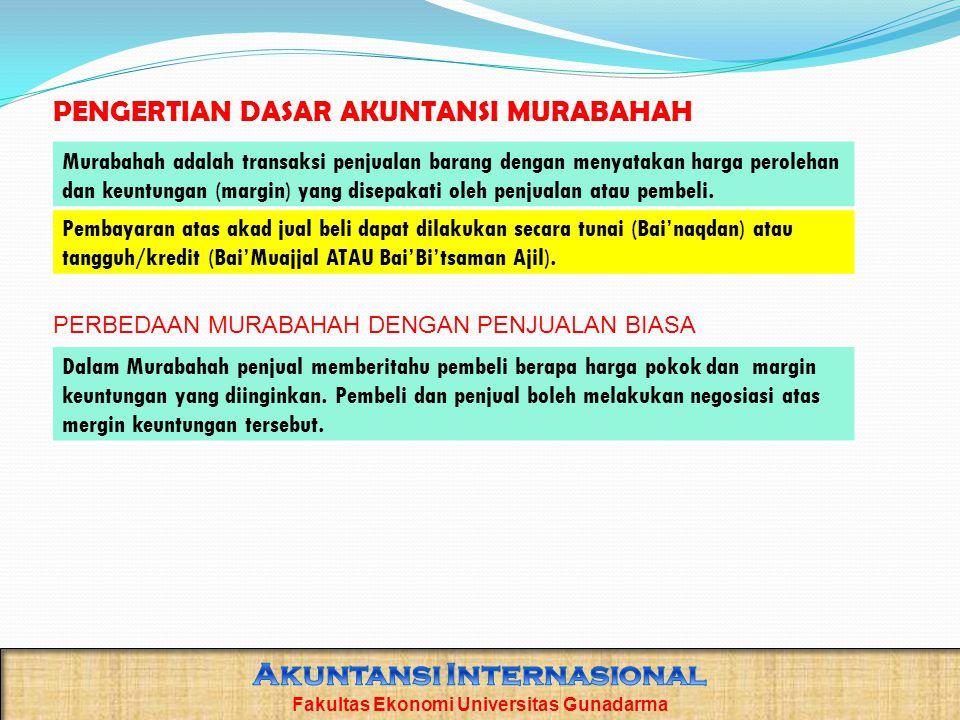 Penyajian Beban murabahah tangguhan disajikan sebagai pengurang (contra account) utang murabahah.
