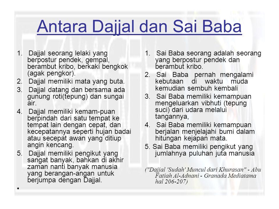 Antara Dajjal dan Sai Baba 1.