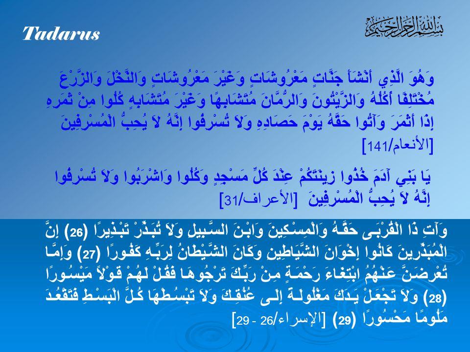 A.Israf Pengertian Israf Israf berasal dari bahasa arab yang berarti melampaui batas.