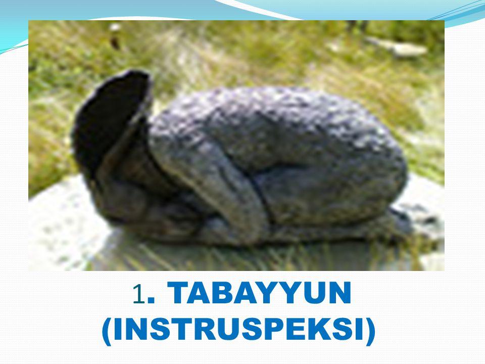 1. TABAYYUN (INSTRUSPEKSI)