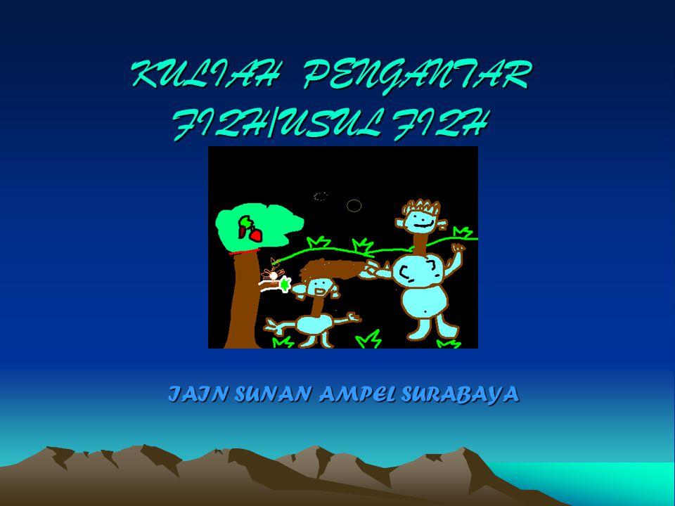 KULIAH PENGANTAR FIQH/USUL FIQH IAIN SUNAN AMPEL SURABAYA