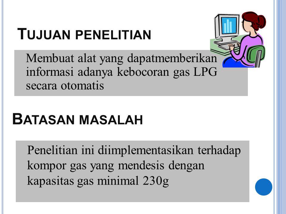 L ATAR BELAKANG  Kompor gas LPG memiliki beberapa kelemahan salah satu diantaranya yaitu bahaya yang ditimbulkan jika terjadi kebocoran gas.  Banyak