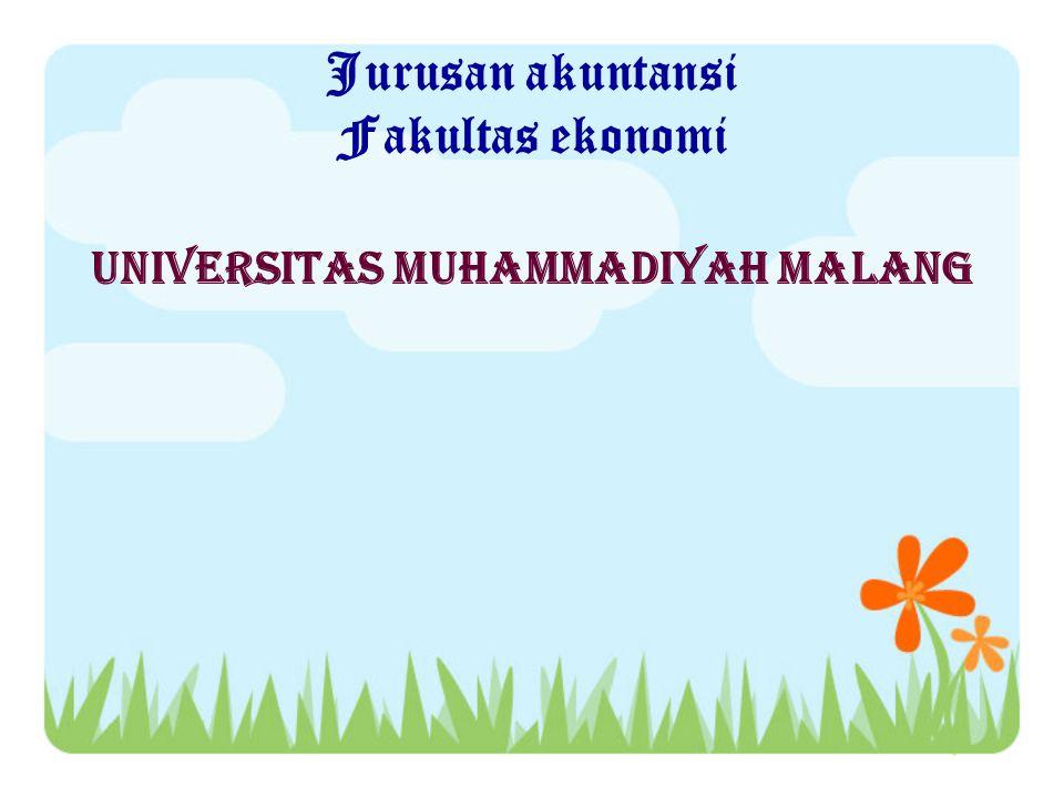 Jurusan akuntansi Fakultas ekonomi Universitas muhammadiyah malang