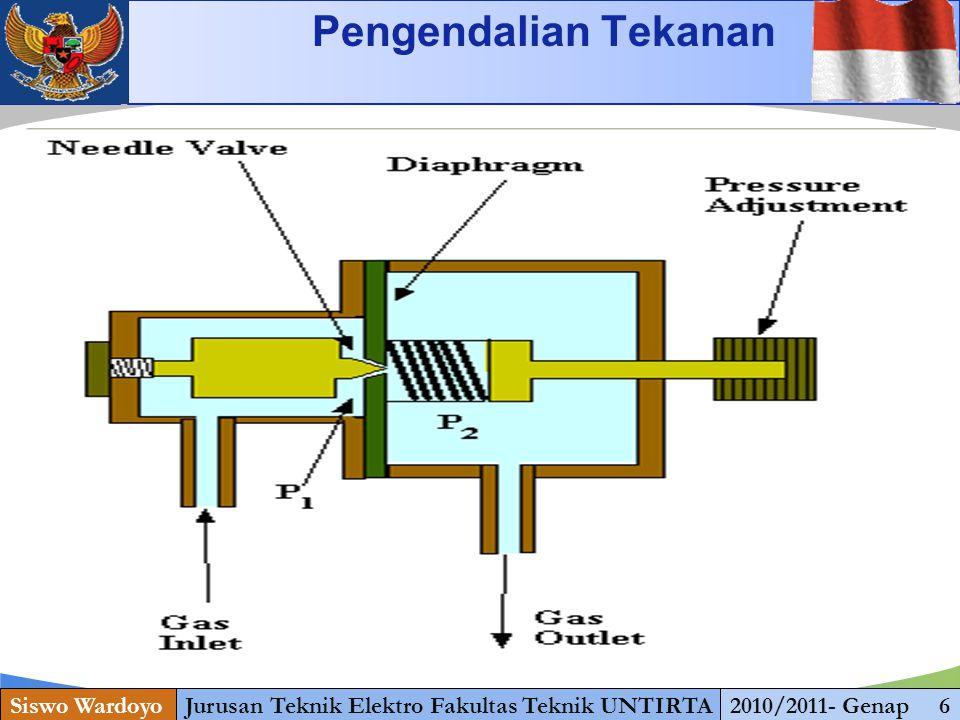 www.themegallery.com Siswo WardoyoJurusan Teknik Elektro Fakultas Teknik UNTIRTA2010/2011- Genap 8 Pengendalian Tekanan