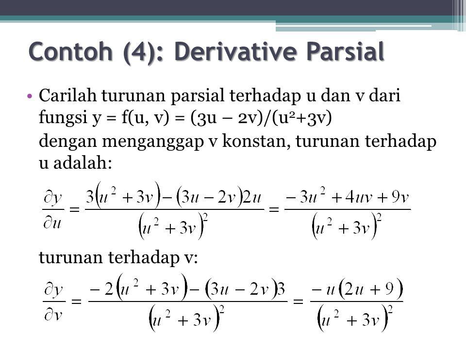 Contoh (8) Elastisitas 2 Barang Fungsi permintaan atas 2 barang ditunjukkan sbb: Qd a (P a 2 )(P b 3 ) – 1 = 0 Qd b (P a 3 )(P b ) – 1 = 0 Hitunglah elastisitas permintaan masing-masing barang dan bagaimanakah hubungan antara kedua barang tersebut.