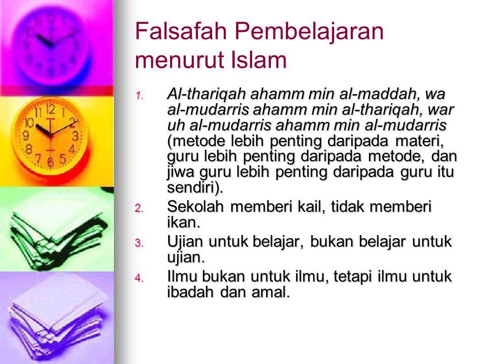 Falsafah Pembelajaran menurut Islam 1.