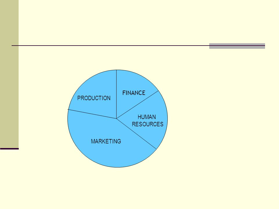 PRODUCTION FINANCE MARKETING HUMAN RESOURCES