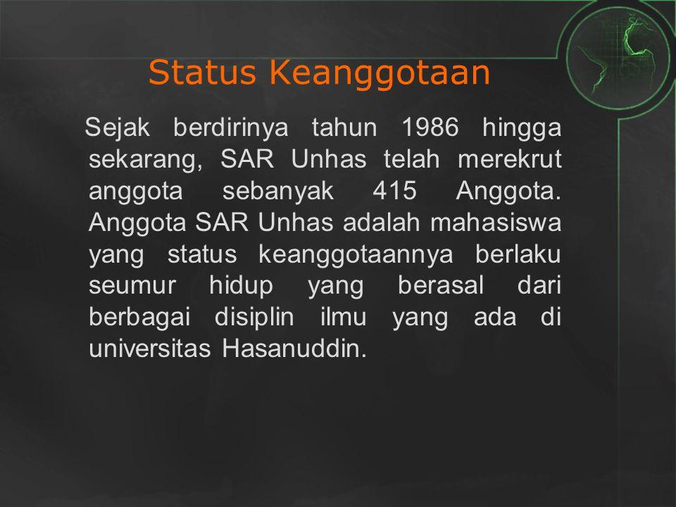 Sejak berdirinya tahun 1986 hingga sekarang, SAR Unhas telah merekrut anggota sebanyak 415 Anggota. Anggota SAR Unhas adalah mahasiswa yang status kea