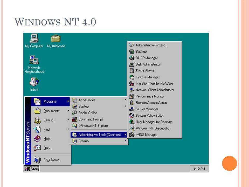 W INDOWS NT 4.0