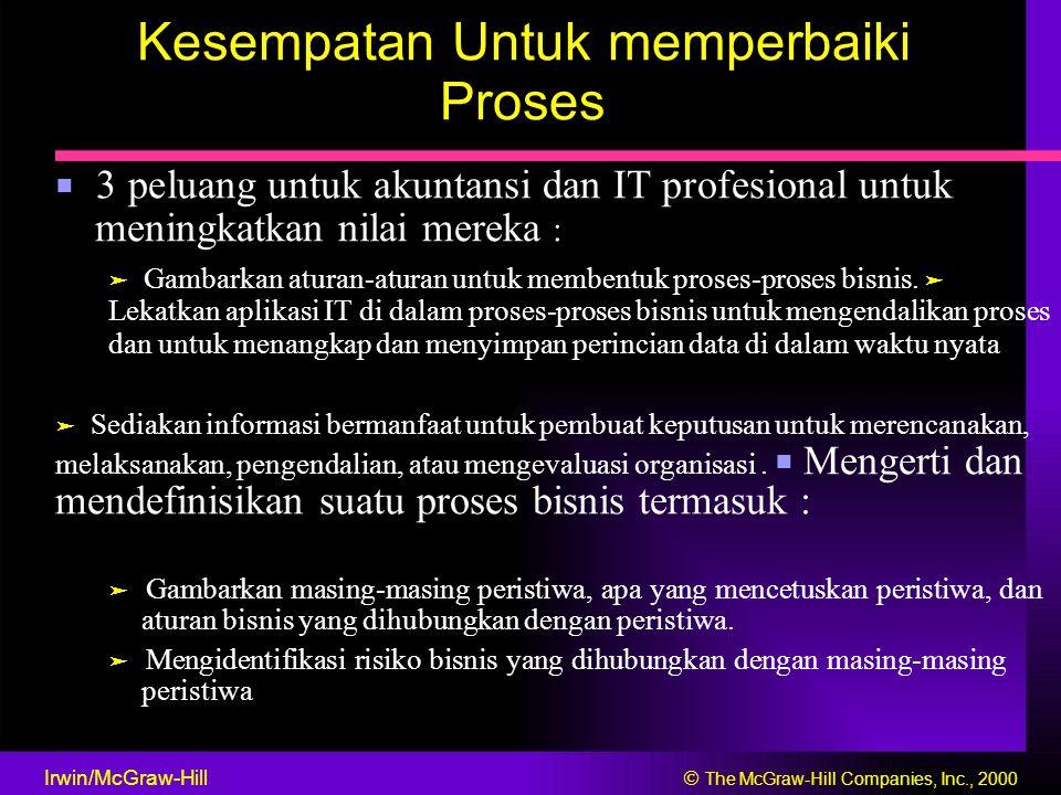 Kesempatan Untuk memperbaiki Proses ■ 3 peluang untuk akuntansi dan IT profesional untuk meningkatkan nilai mereka : ➤ Gambarkan aturan-aturan untuk m