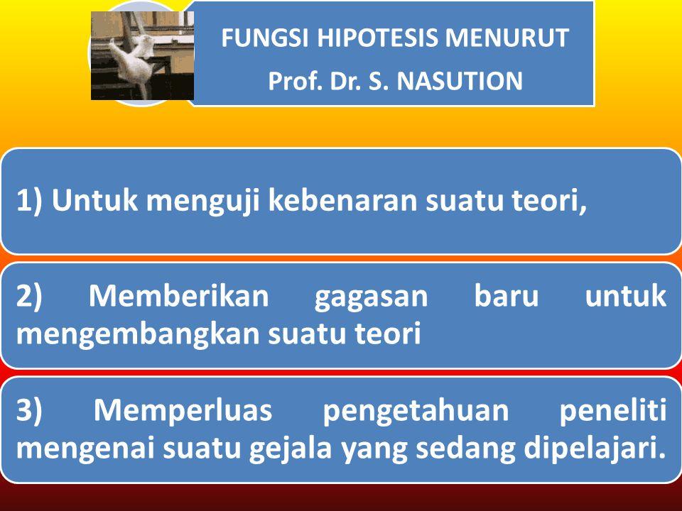 FUNGSI HIPOTESIS MENURUT Prof.Dr. S.