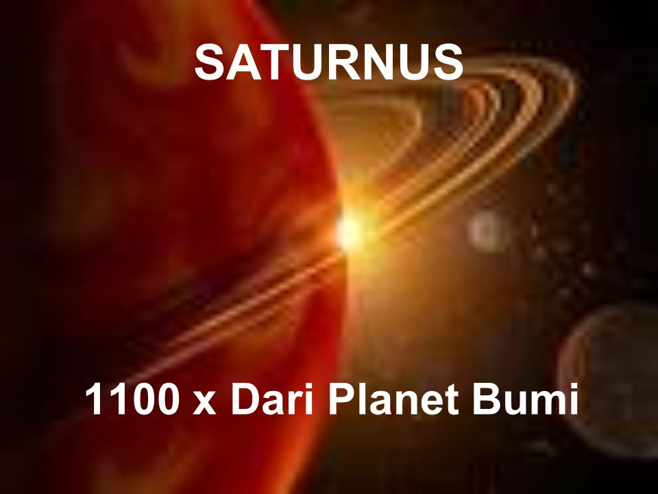 SATURNUS 1100 x Dari Planet Bumi