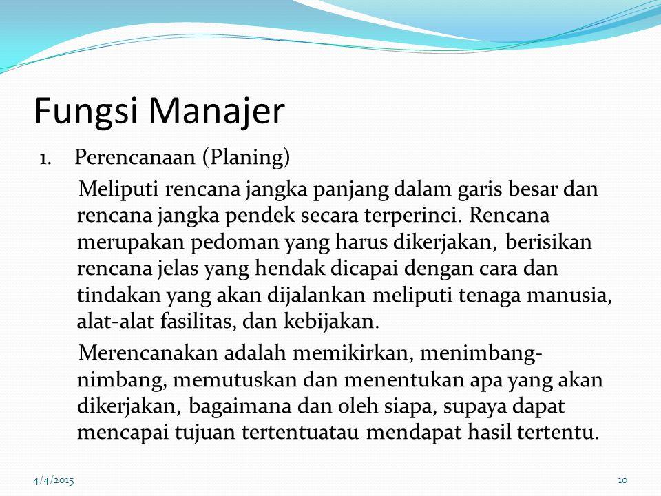 Fungsi Manajer 1.