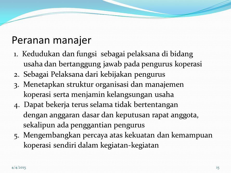 Peranan manajer 1.