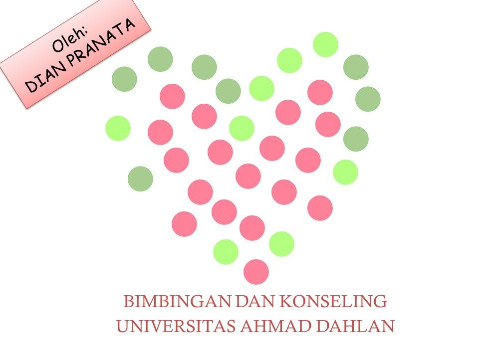 BIMBINGAN DAN KONSELING UNIVERSITAS AHMAD DAHLAN Oleh: DIAN PRANATA