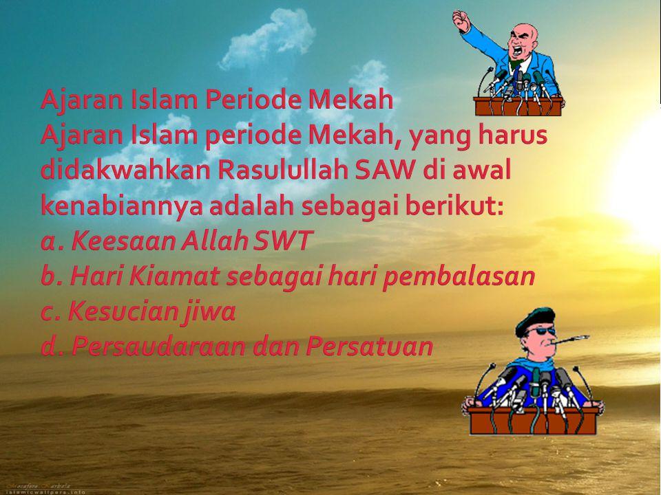  Substansi dan strategi dakwah Raslullah SAW.