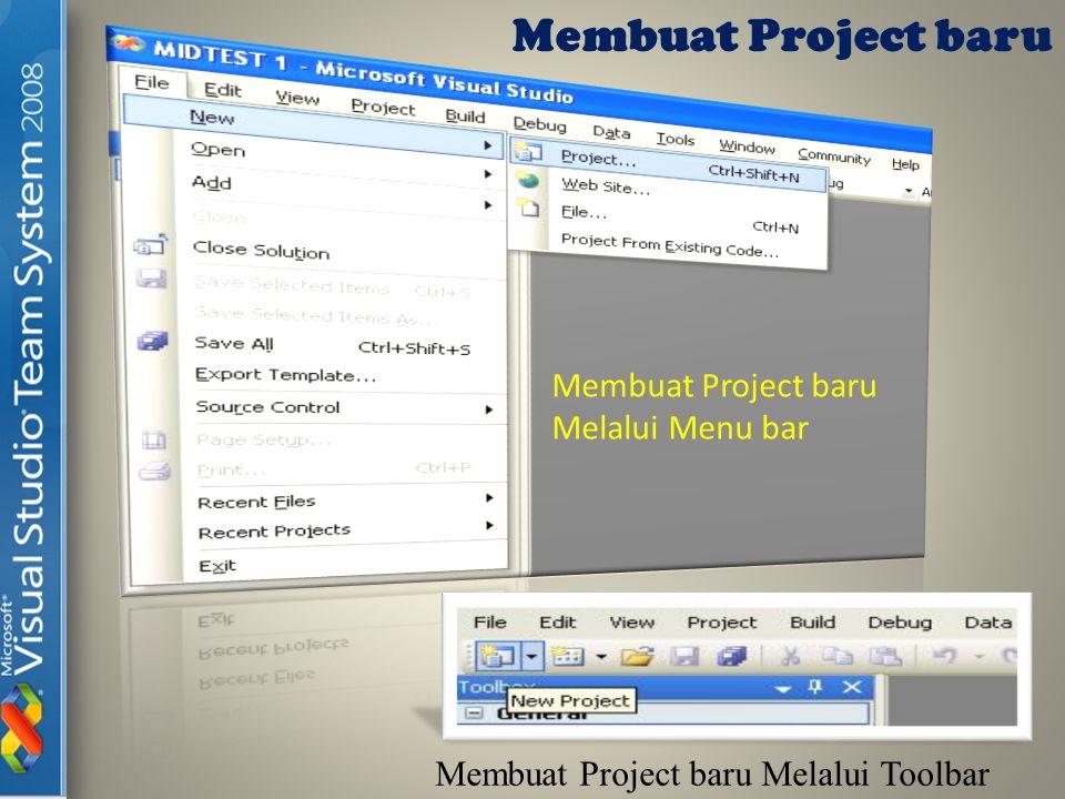 Setelah itu akan Muncul sebuah Jendela Dialog Seperti gambar dibawah ini : Jendela Pilihan Pembuatan Project Baru