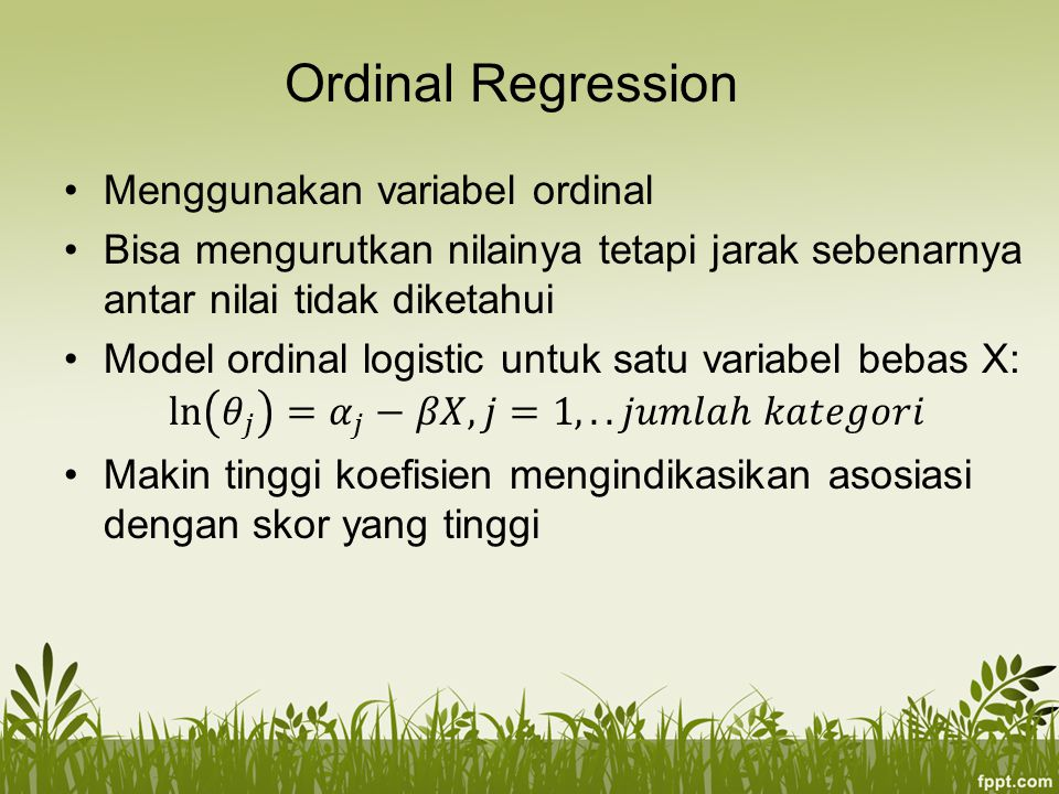 Ordinal Regression