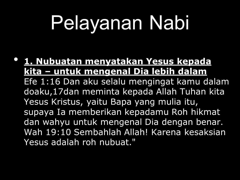 Pelayanan Nabi 1.