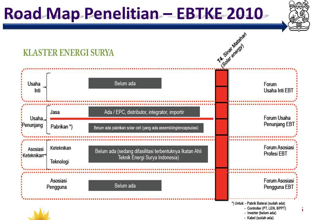 Road Map Penelitian – EBTKE 2010 15
