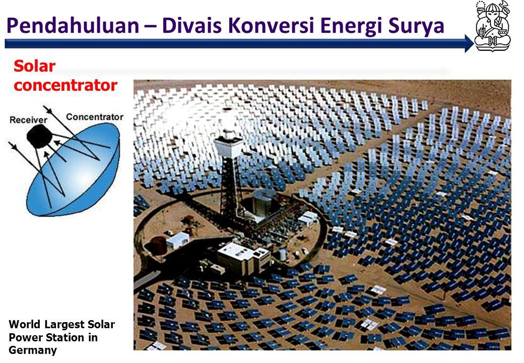 Pendahuluan – Divais Konversi Energi Surya 10 Solar Photovoltaic