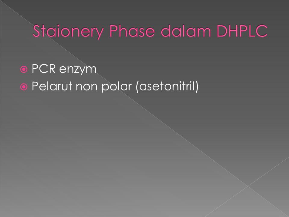  PCR enzym  Pelarut non polar (asetonitril)