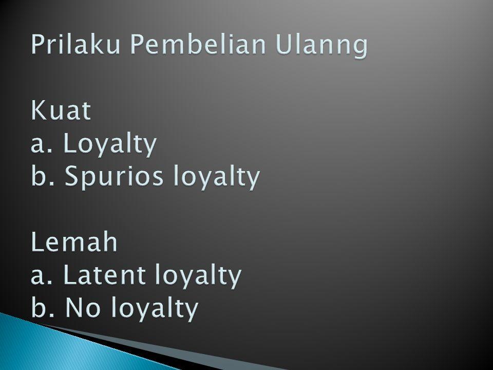 Hingga saat ini konseptualisasi dan oprasionalisasi loyalitas merek dan loyalitas pelanggan masih bnyak di perdebatkan.