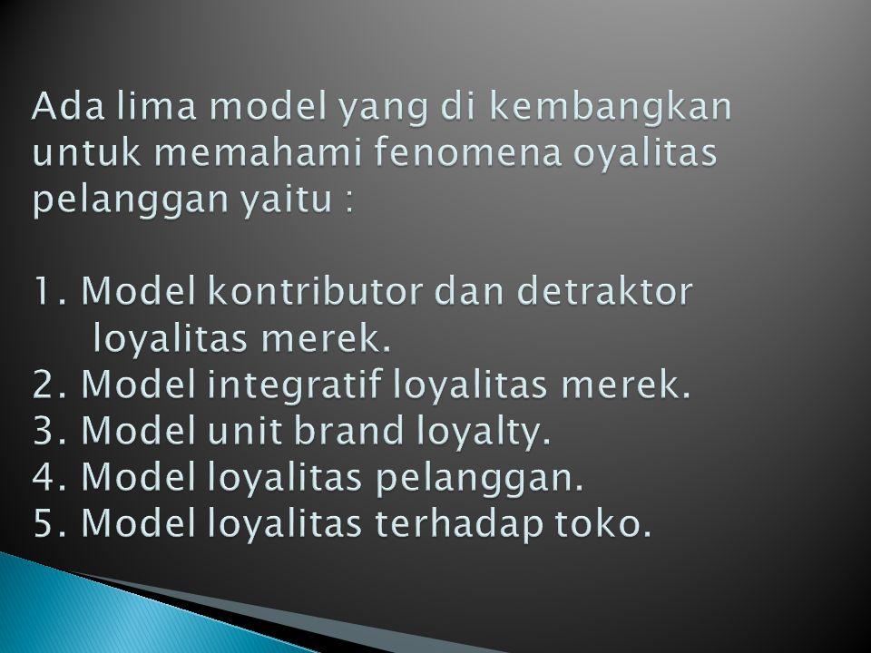 Loyalitas penggan mengalami evolusi yang terddiri atas empat tahap : innocent, awakened, progressive, dan world class.