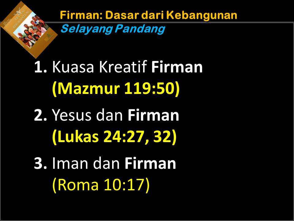 Understand the purposes of marriage Firman: Dasar dari Kebangunan Selayang Pandang 1.