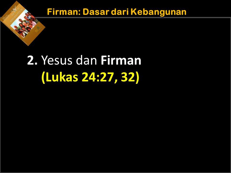 Understand the purposes of marriage Firman: Dasar dari Kebangunan 2.
