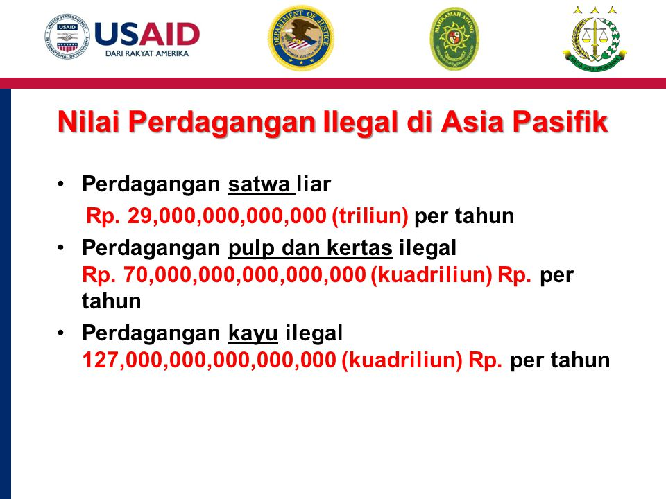Nilai Perdagangan Ilegal di Asia Pasifik Perdagangan satwa liar Rp.