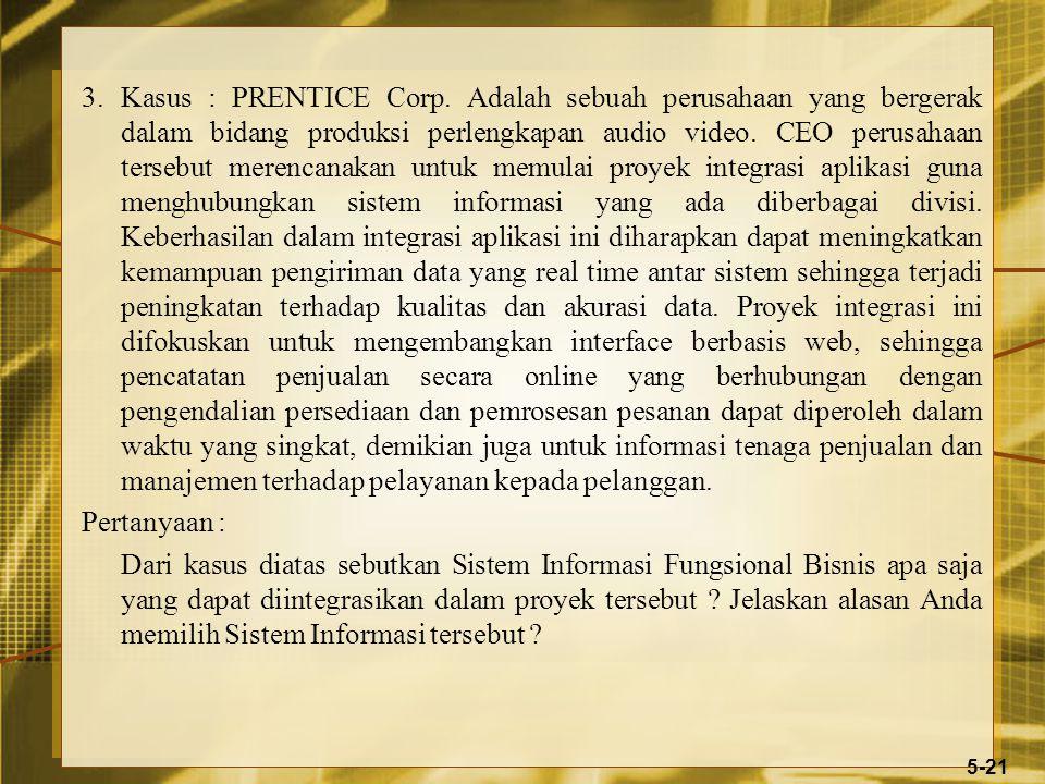 3.Kasus : PRENTICE Corp.