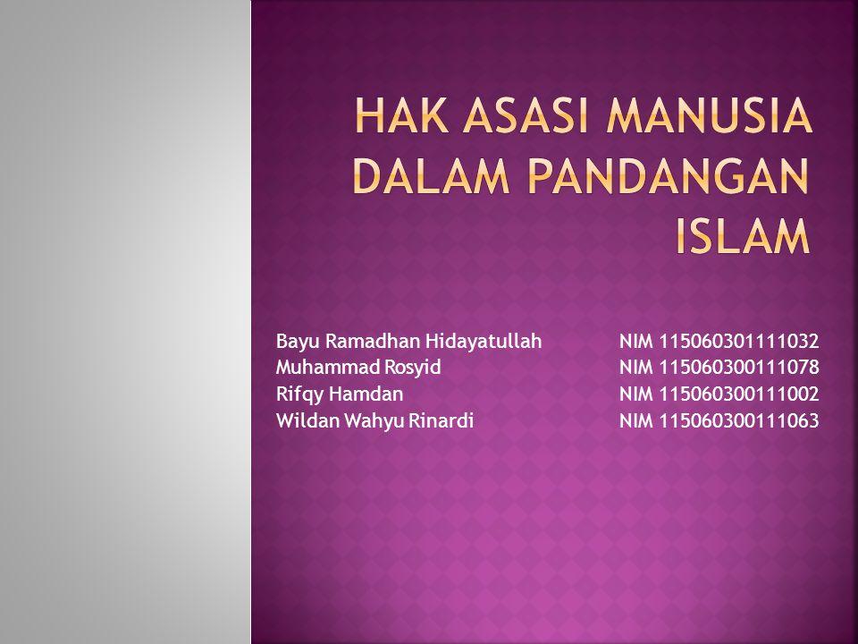 Apakah Islam itu.Apakah HAM itu.