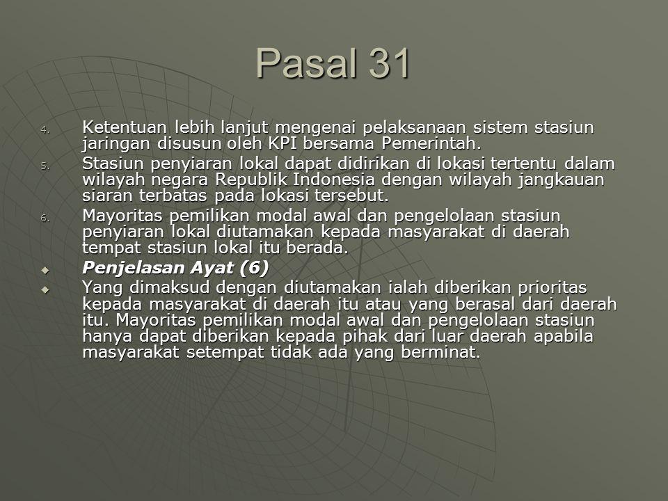 Pasal 31 4.