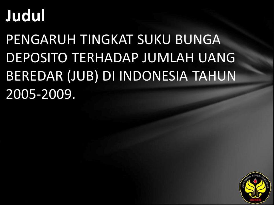 Abstrak Uang di Indonesia mengalami perkembangan sesuai dengan berkembangnya kebijakan-kebijakan pemerintah.