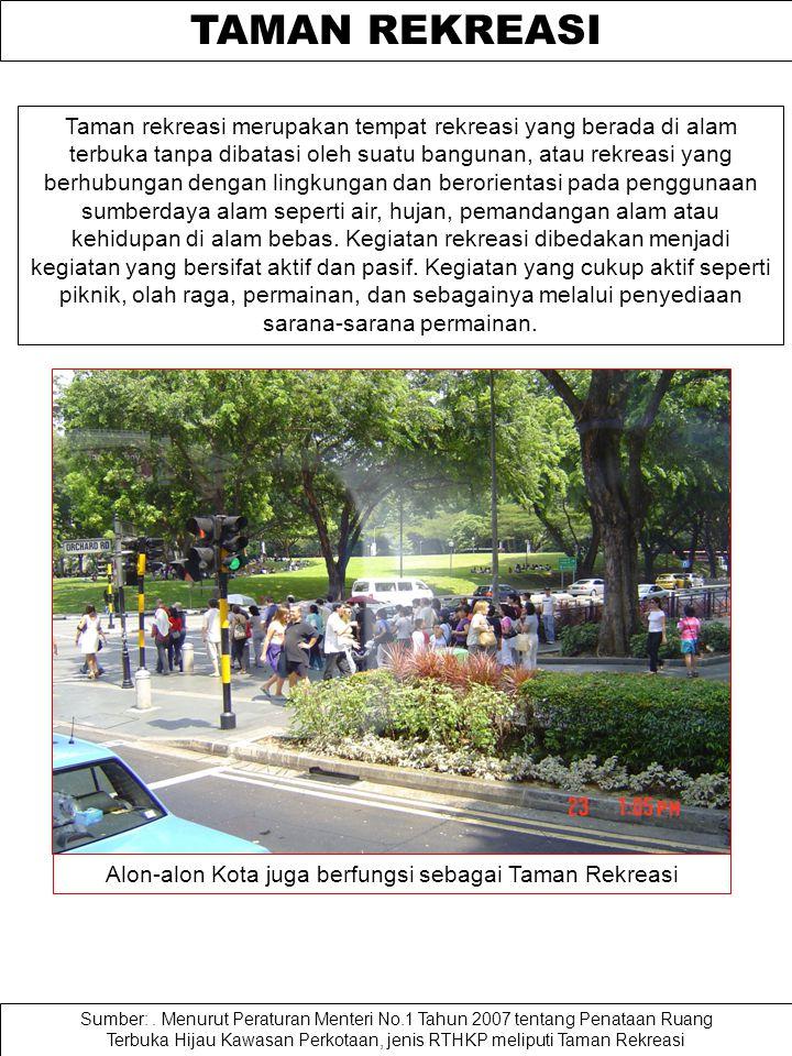 TAMAN KOTA Taman kota Taman kota merupakan ruang didalam kota yang ditata untuk menciptakan keindahan, kenyamanan, keamanan, dan kesehatan bagi penggu