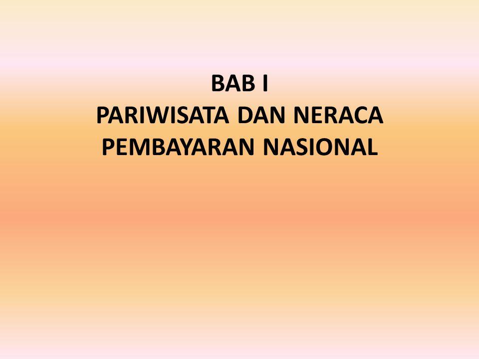 BAB I PARIWISATA DAN NERACA PEMBAYARAN NASIONAL