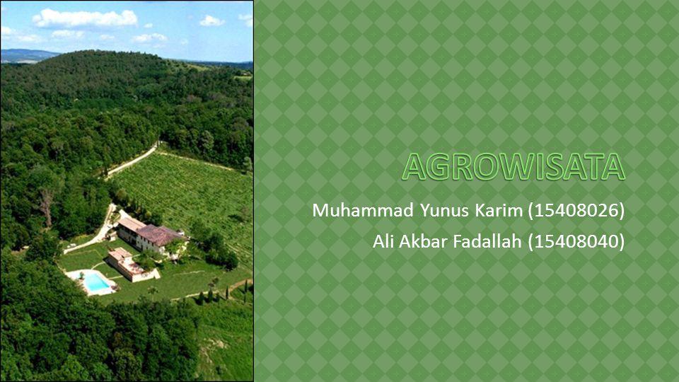 Muhammad Yunus Karim (15408026) Ali Akbar Fadallah (15408040)