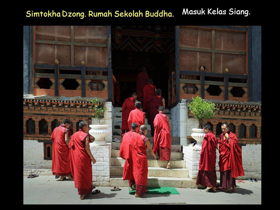 Click to Proceed Masuk Kelas Siang. Simtokha Dzong. Rumah Sekolah Buddha.