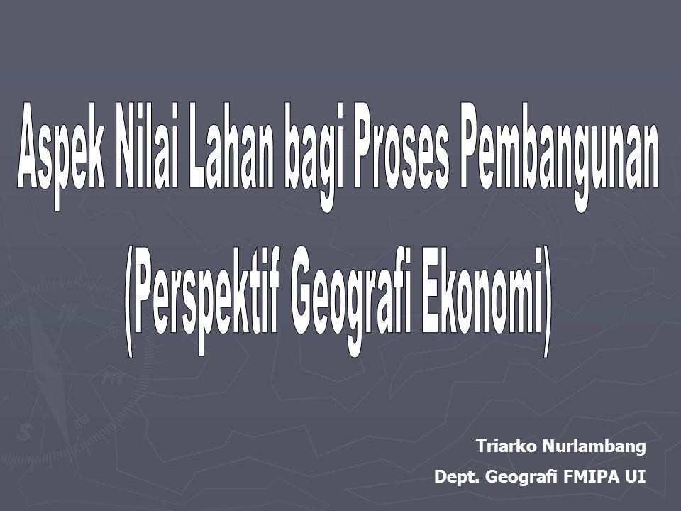 Triarko Nurlambang Dept. Geografi FMIPA UI