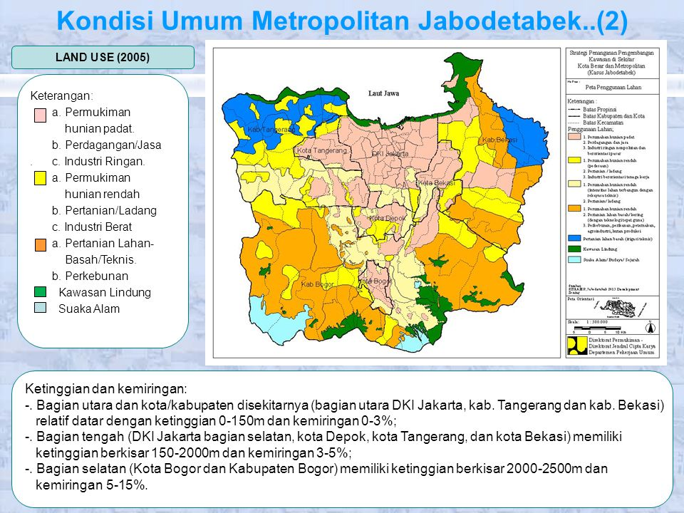 KEPENDUDUKAN DAN PEREKONOMIAN KOTA/KAB JUMLAH PENDUDUK KEPADATAN PENDUDUK 2001200520012005 DKI Jakarta 7,423,3798,347,253130121 Kab.