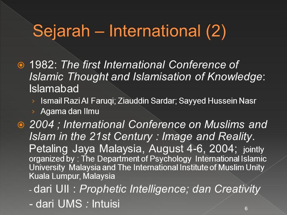  1982: The first International Conference of Islamic Thought and Islamisation of Knowledge: Islamabad › Ismail Razi Al Faruqi; Ziauddin Sardar; Sayye