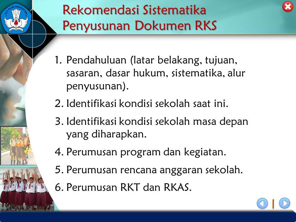 PUSAT PENJAMINAN MUTU PENDIDIKAN - BPSDMPK & PMP – KEMENDIKBUD -2012 Rekomendasi Sistematika Penyusunan Dokumen RKS 1.Pendahuluan (latar belakang, tuj